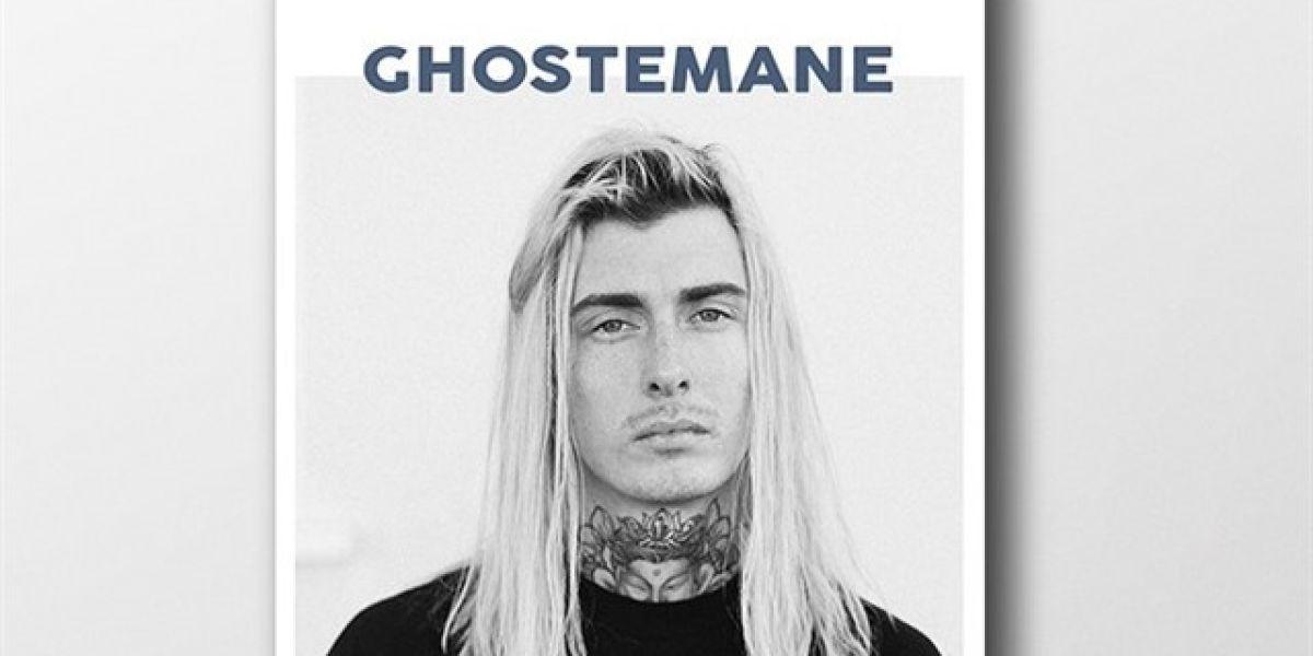El cartel que anunciaba el concierto de Ghostemane