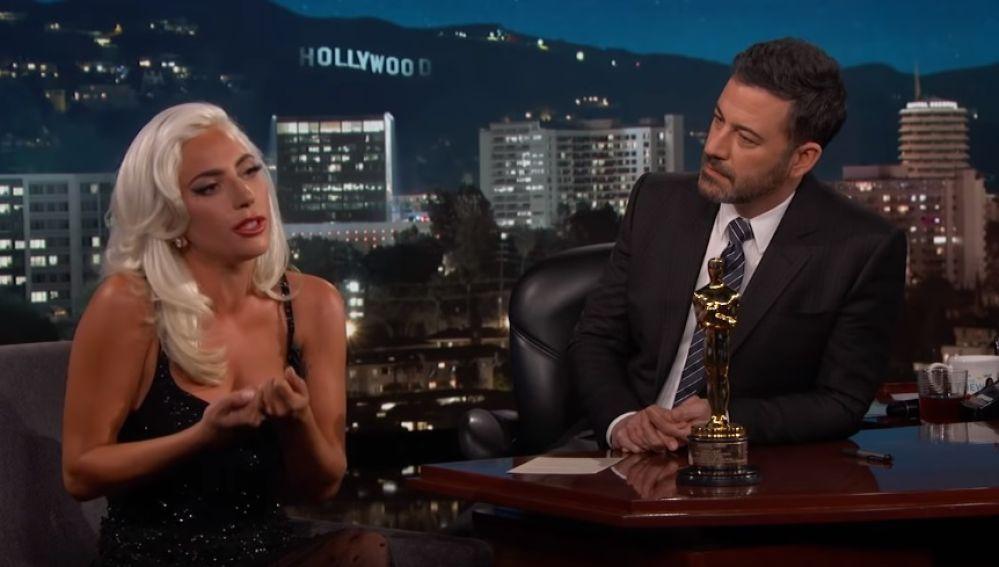 Lady Gaga y Jimmy Kimmel