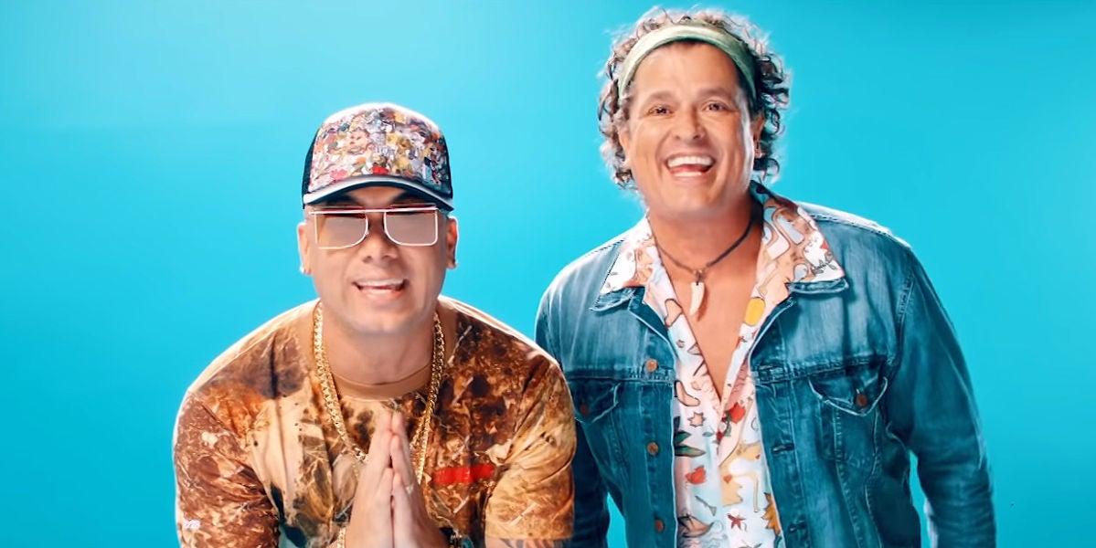 Wisin y Carlos Vives en el vídeo de 'Si me das tu amor'