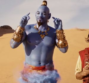 Will Smith y Mena Massoud en 'Aladdin'