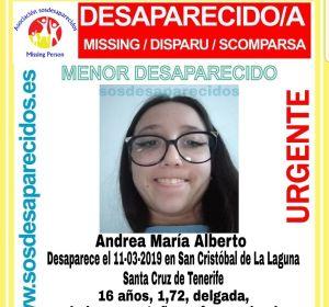 Desaparecida una menor de 16 años en La Laguna (Tenerife)