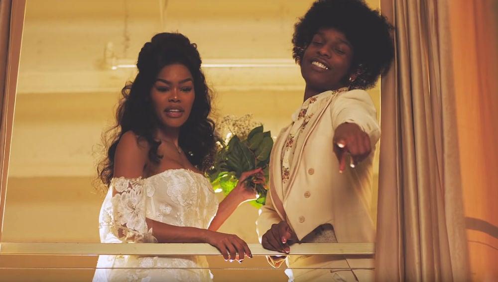 Teyana Taylor y A$AP Rocky en el vídeo de 'Issues/Hold On'