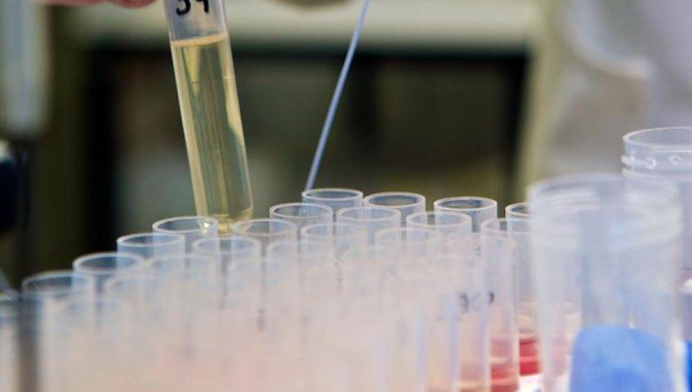 Una probeta en un laboratorio