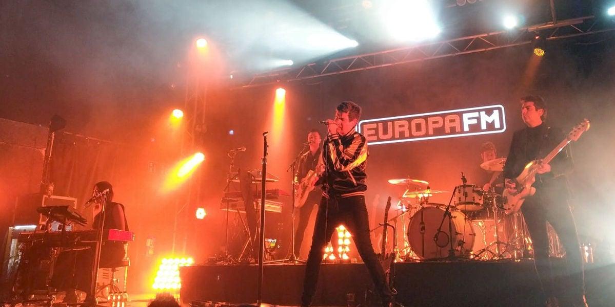 Dorian durante el showcase con Europa FM en Barcelona