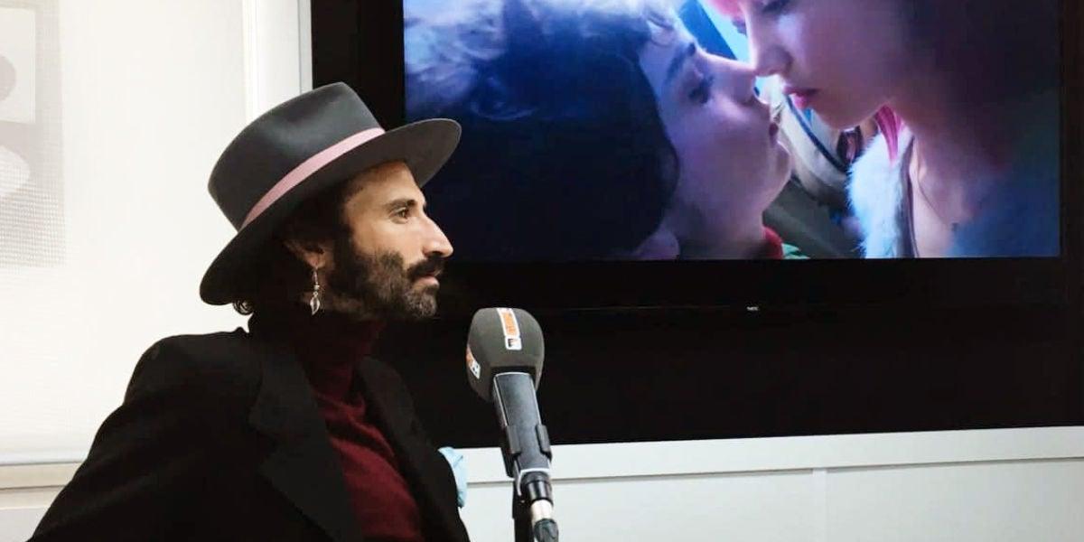 Leiva durante su entrevista con Europa FM