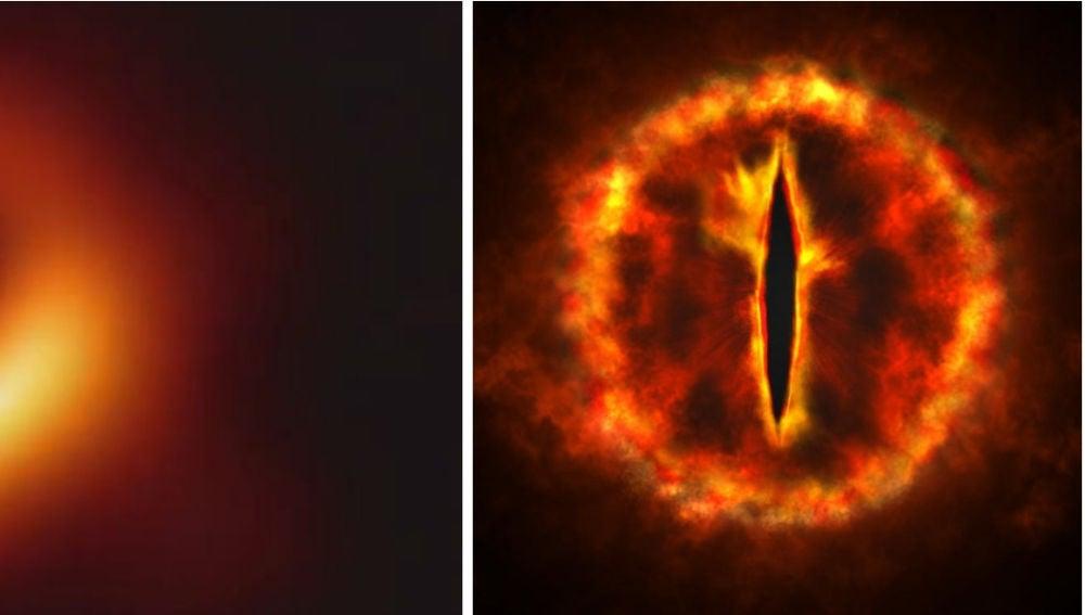 Agujero negro vs. Ojo de Sauron