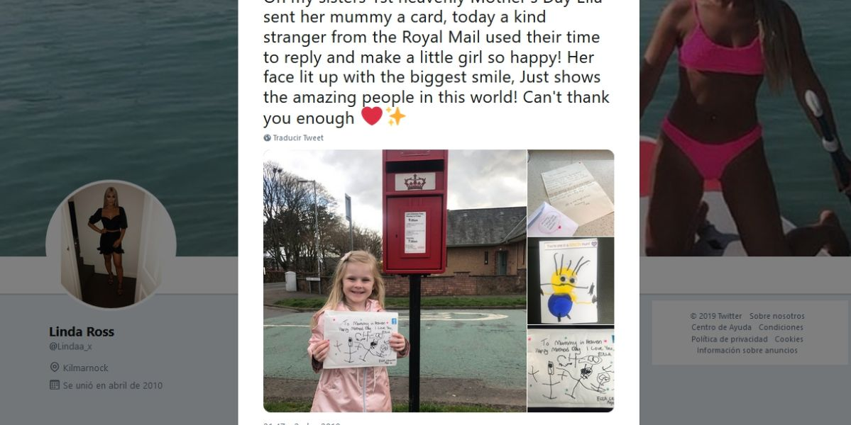 La sobrina de @lindaa_x mandó una carta a su madre en el cielo