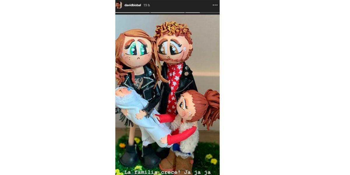 muñecos de la familia David Bisbal y Rosanna Zanetti
