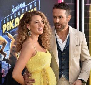 Blake Lively y Ryan Reynolds en la premiere de 'Pokémon: Detective Pikachu'