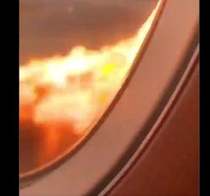 Imagen del interior del avión de Moscú