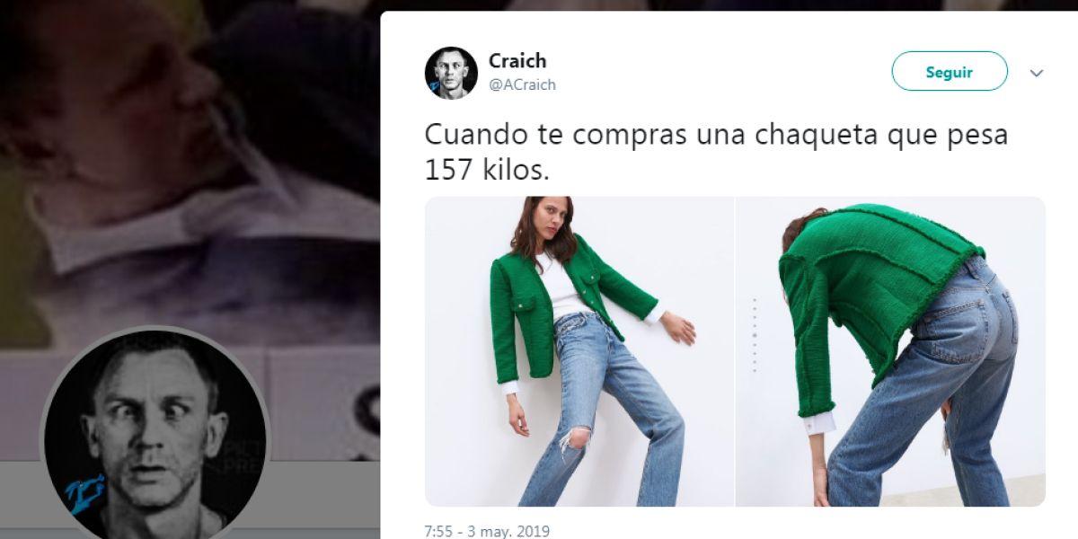 El tuit viral sobre la pose de la modelo de Zara