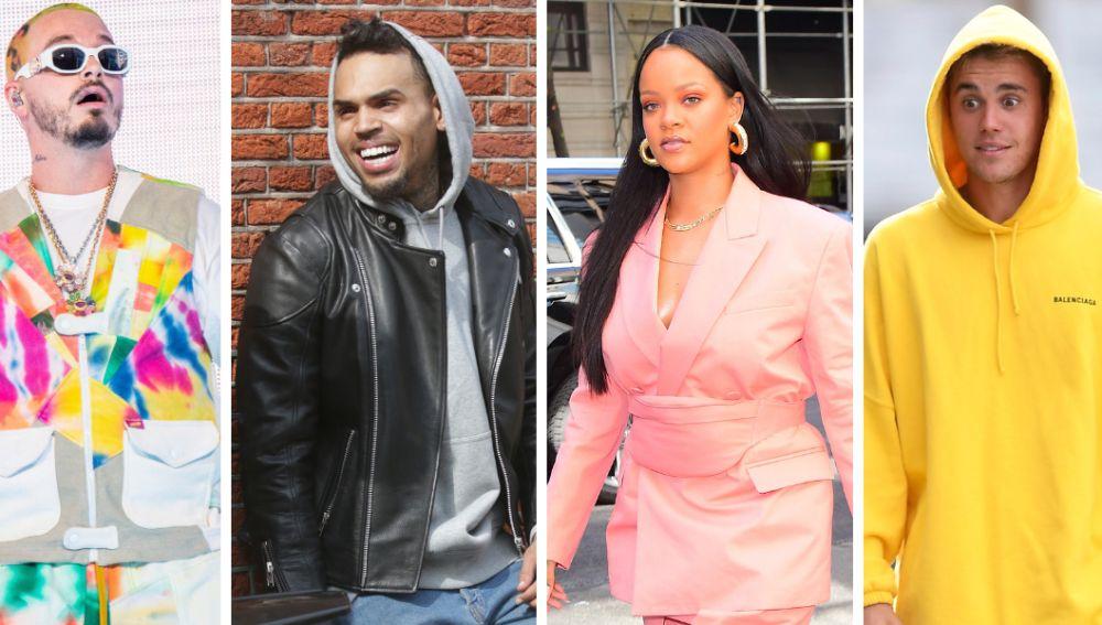 """Justin Bieber y J Balvin defienden a Chris Brown y tachan de """"error"""" su paliza a Rihanna"""