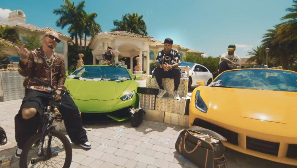J Balvin, Arcángel, Nicky Jam y Anuel AA en el videoclip de 'Ven Y Hazlo Tú'