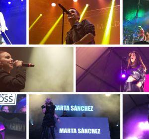 Chenoa, Maldita Nerea, Tequila, Buhos, Ruth Lorenzo, Brian Cross. Marta Sánchez y Famous en los concierto de Europa FM en Badalona