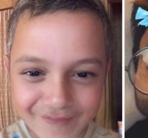 Alejandro Sanz y Luis Fonsi con el filtro 'bebé'