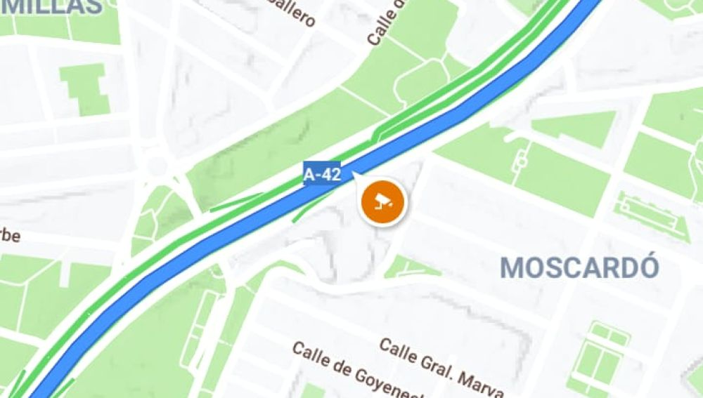 Visualiación de radar fijo en 'Google Maps'