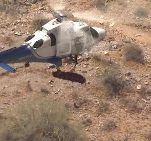 El rescate en helicóptero más mareante: una mujer de 74 años que queda suspendida sin dejar de girar