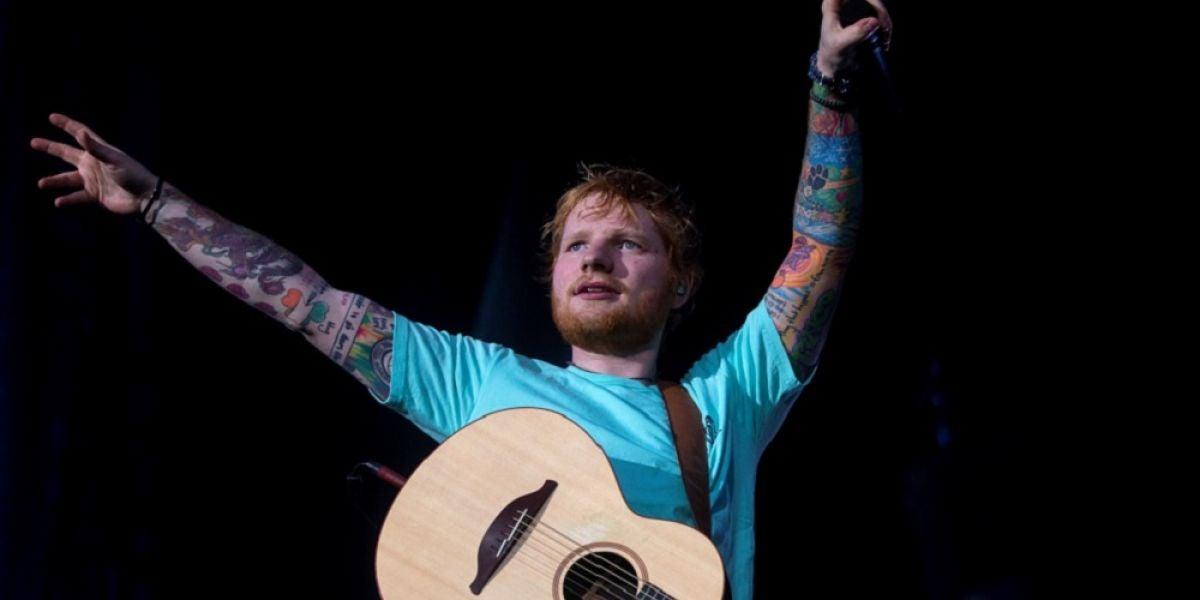 Ed Sheeran durante su concierto en Barcelona
