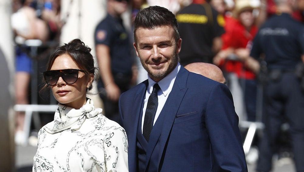 David Beckham y Victoria, en la boda de Sergio Ramos y de Pilar Rubio