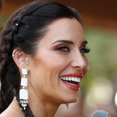 Pilar Rubio en la finca donde se celebra la fiesta posterior a la boda
