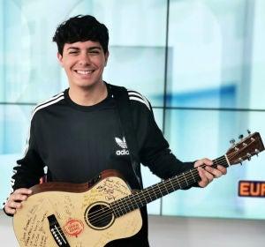 Alfred García en los estudios de Europa FM