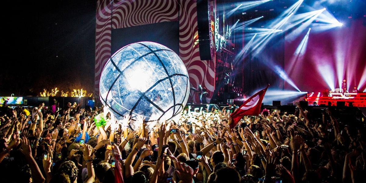 Bola humana en el Sziget Festival de Budapest