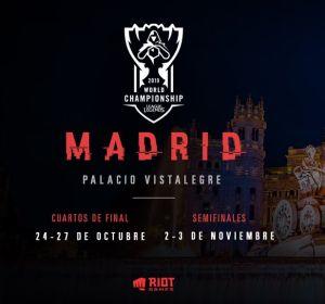 Los cuartos de final y semifinales del Mundial de League of Legends se disputarán en Madrid