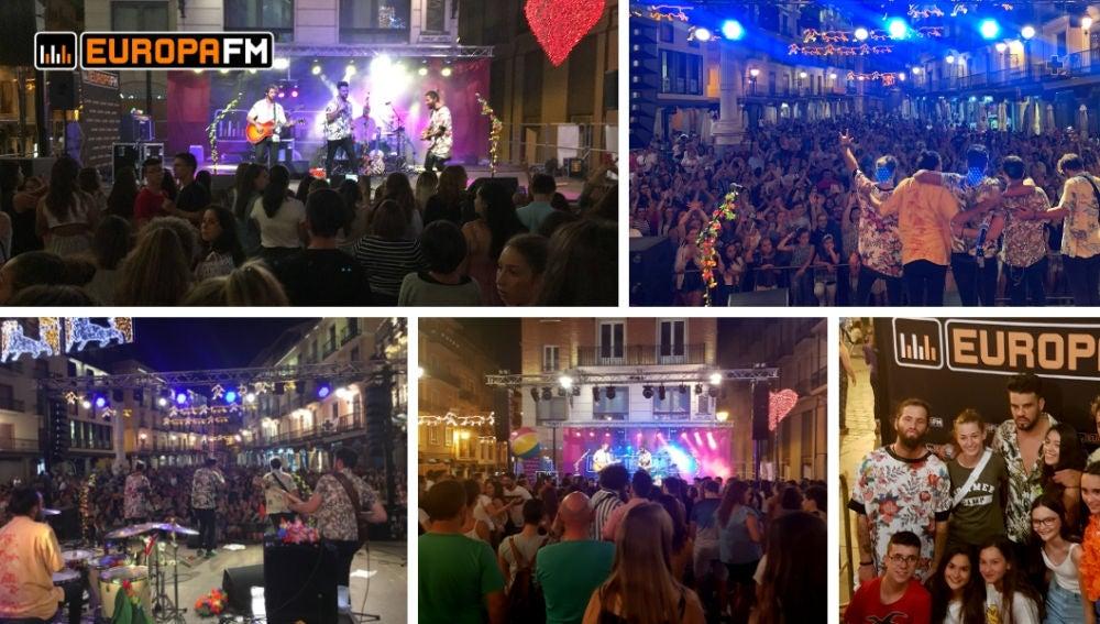 Concierto de Bombai con Europa FM en Teruel