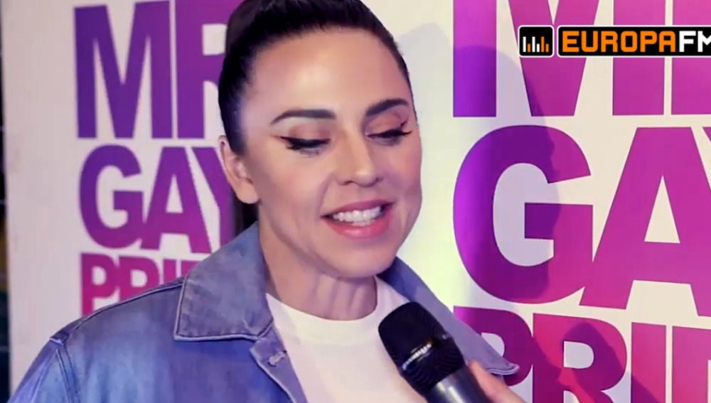 Mel C durante su entrevista para Europa FM