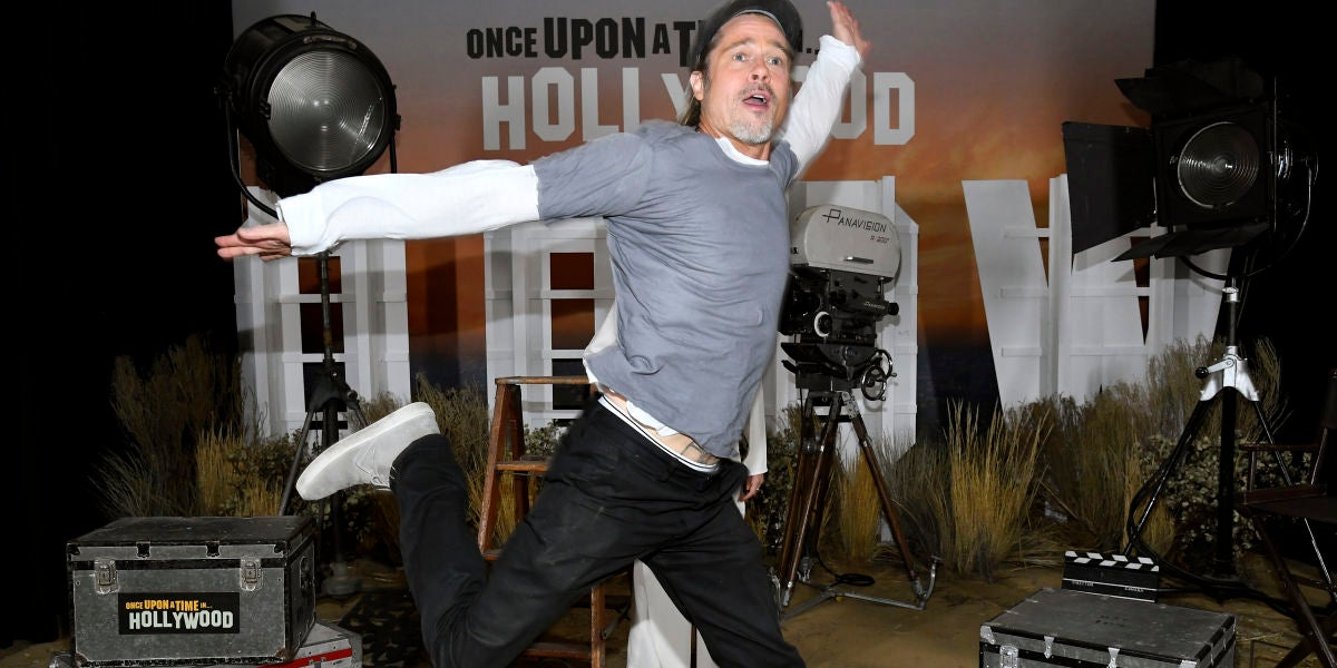 Brad Pitt en la presentación de 'Once Upon A Time In Hollywood'