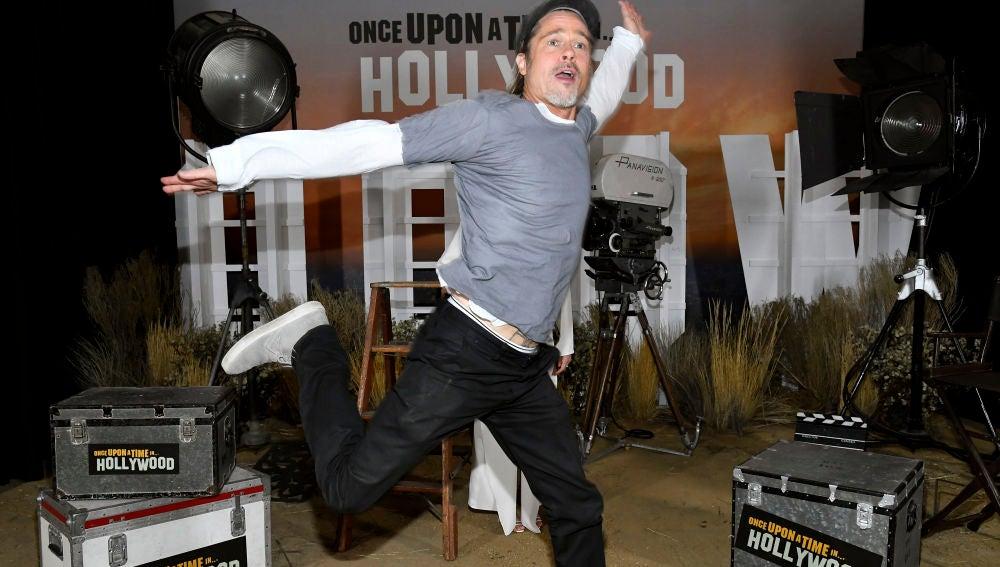 Brad Pitt en la presentación de 'Once Upon A Time In Hollywood'