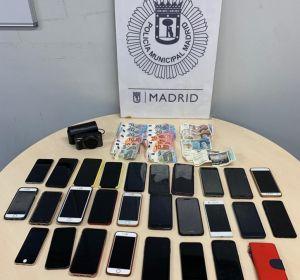 Imagen de los móviles robados en el festival Mad Cool de Madrid