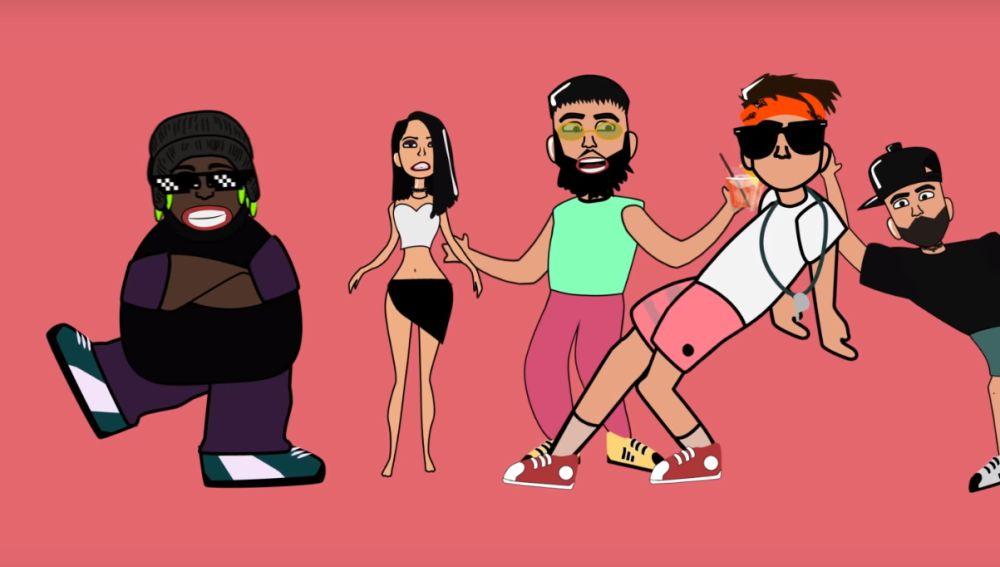 Becky G, Nicky Jam, Farruko, Sech y Guaynaa en el remix de 'Rebota'