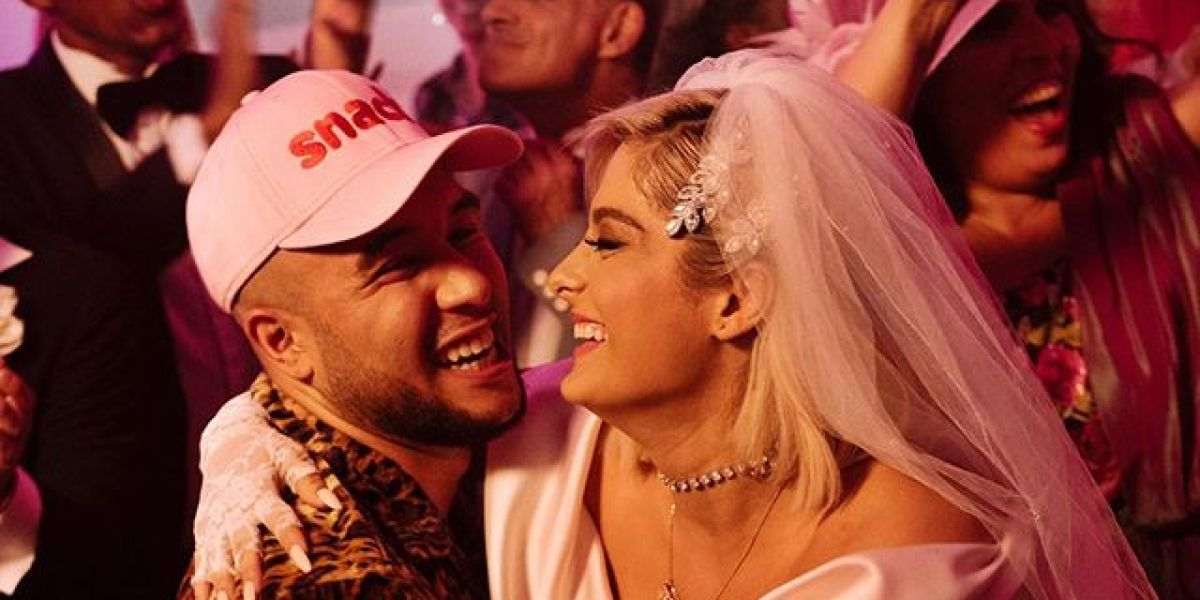 Jax Jones y Bebe Rexha en el vídeo de 'Harder'