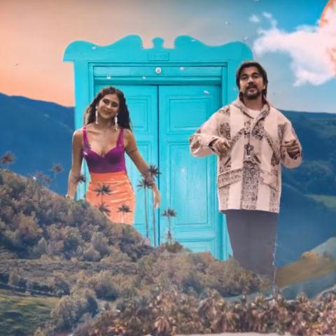 Greeicy y Juanes en el videoclip de 'Minifalda'