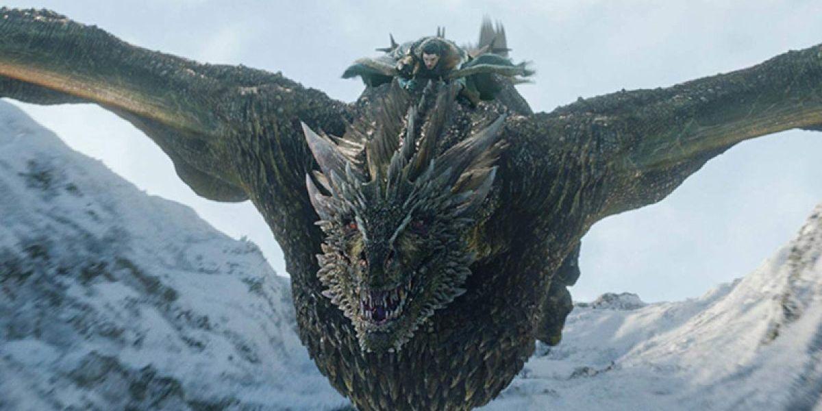Jon Snow montando en Rhaegel, 'Juego de Tronos' HBO
