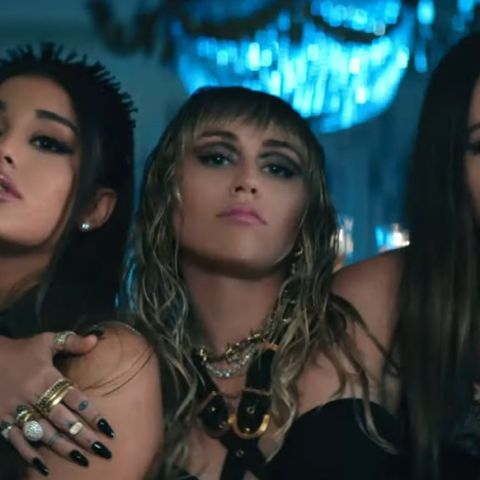 Ariana Grande, Miley Cyrus, Lana Del Rey en 'Don't Call Me Angel'