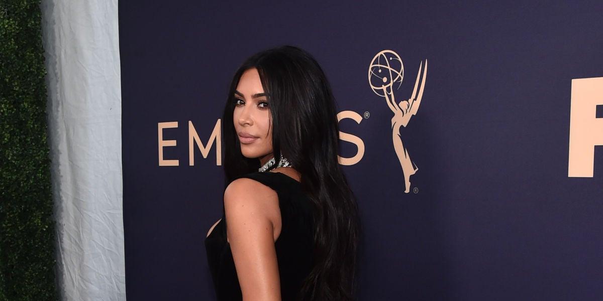 Kim Kardashian en los premios Emmy 2019