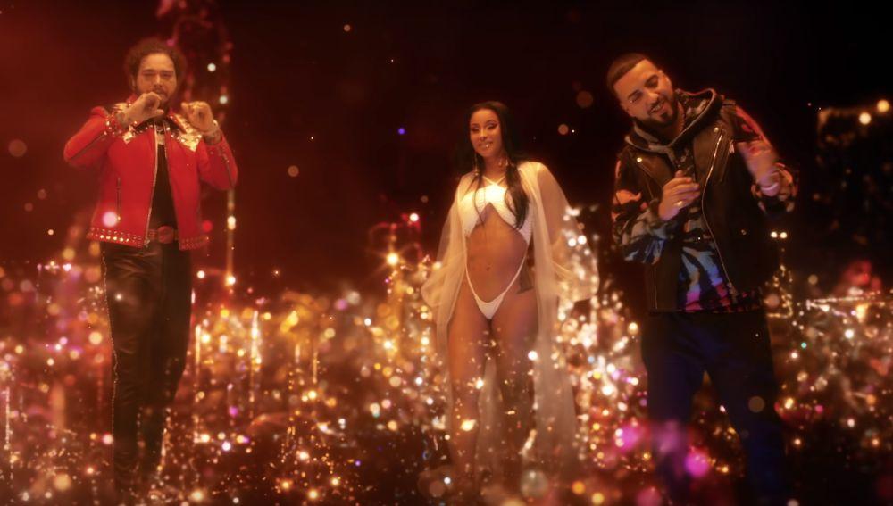 Post Malone, Cardi B y French Montana en el vídeo de 'Writing on the Wall'