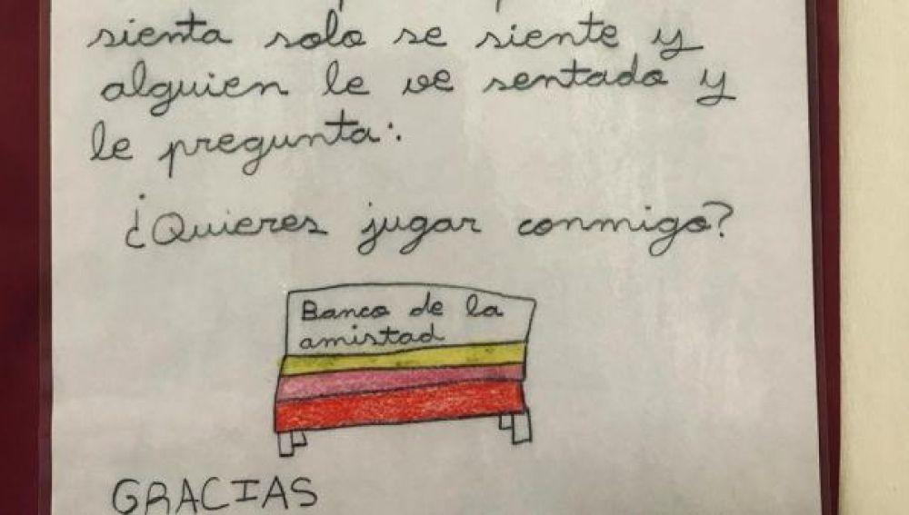 El Fernando de Rojas ya tiene su 'banco de la amistad'