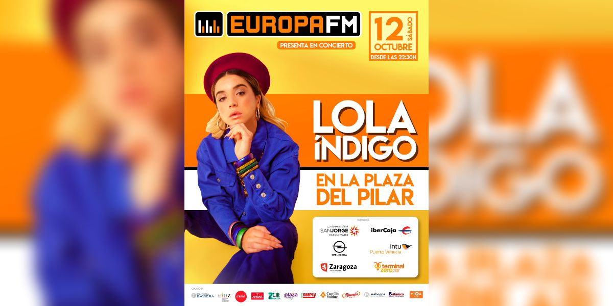 Lola Índigo en el Escenario Europa FM en las Fiestas del Pilar 2019