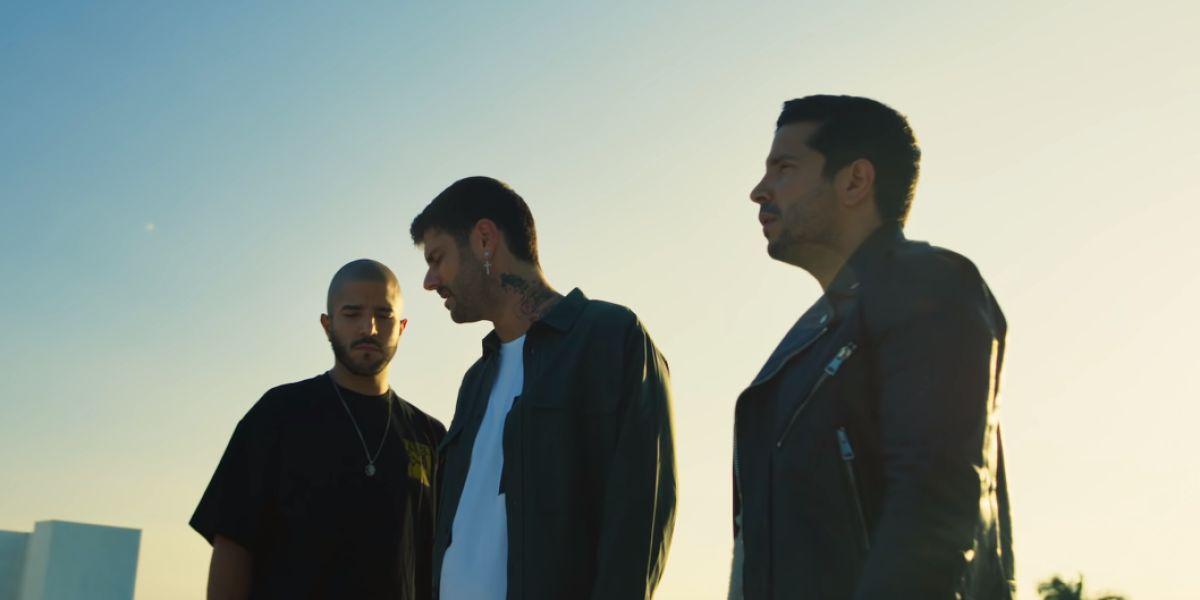 Melendi y Cali y El Dandee en el vídeo de 'El Ciego'