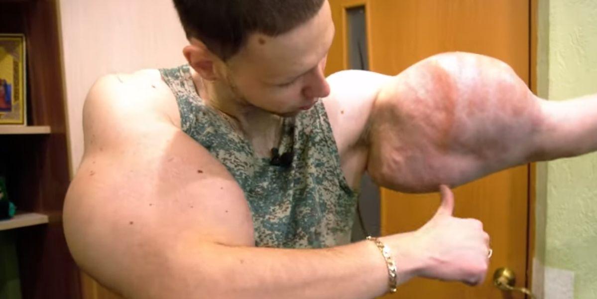 Kirill Tereshin, 'luciendo' músculo tras su entrenamiento