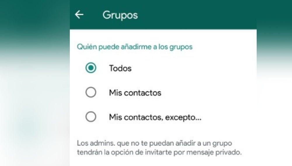 Cómo evitar que te añadan a grupos de WhatsApp sin tu consentimiento
