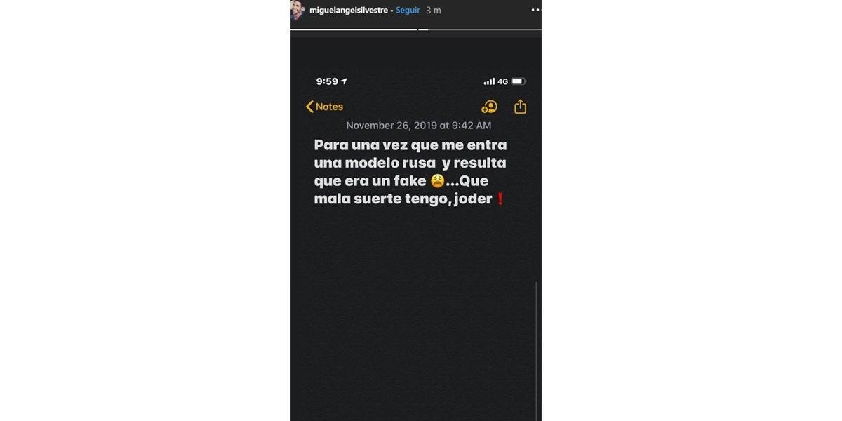 La respuesta de Miguel Ángel Silvestre al Caso Cantora