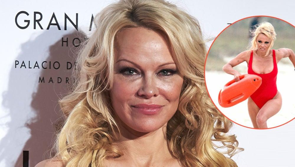 Pamela Anderson recrea su escena más icónica 30 años después