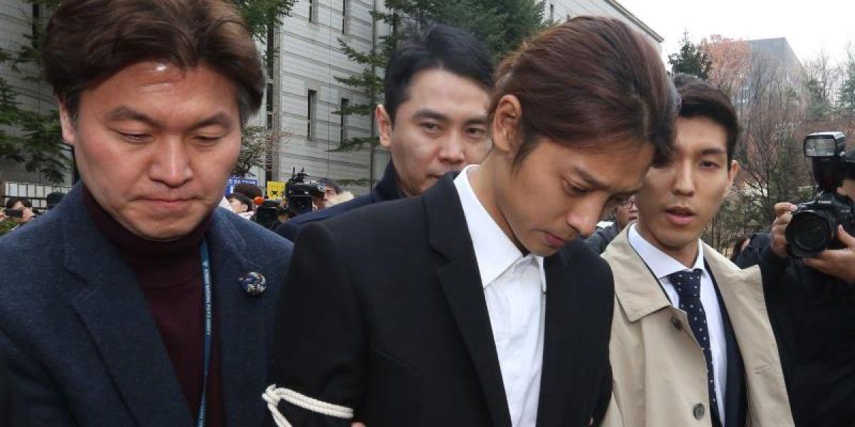 El cantante Jung Joon-young llega al Departamento de Policía de Seúl (Corea del Sur)