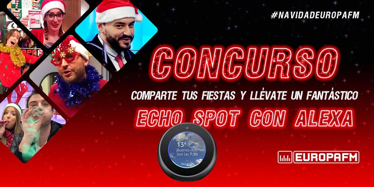 Comparte tu alegría navideña ¡y llévate un fantástico Echo Spot!