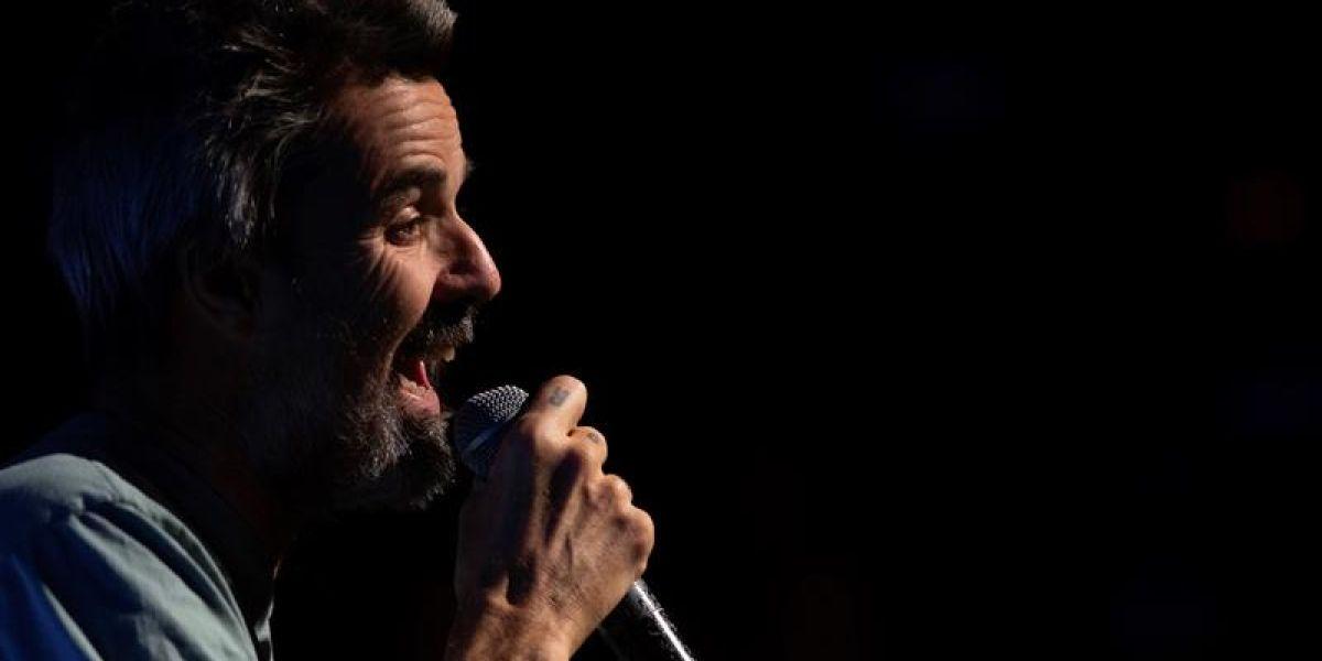 Pau Donés en el concierto 'Jarabe y Sus Músicos Contra el Cáncer'