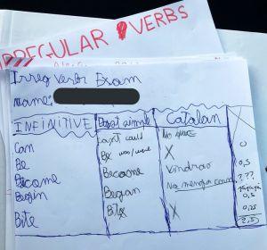 La divertida respuesta de un niño en su examen de inglés